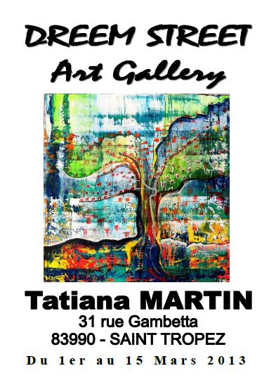 Affiche exposition à Dreem Street Art Gallery- Saint Tropez